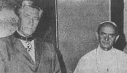 Friedrich Jürgenson i Paweł VI, który uhonorował go Orderem Św. Grzegorza Wielkiego.